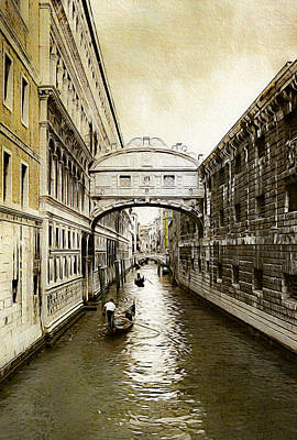 European City Digital Art - Venice City Of Canals  by Julie Palencia
