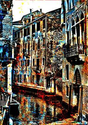 Digital Art - Venice In Grunge by Greg Sharpe