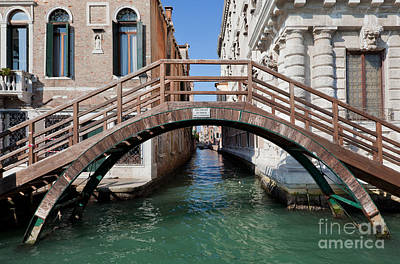 Photograph - Venice Italy A Bridge Over Grand Canal by Michal Bednarek