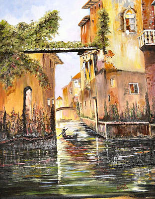 Painting - Venice- Italy by Arlen Avernian Thorensen