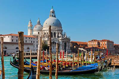 Photograph - Venice Italy Basilica Santa Maria Della Salute And Grand Canal by Michal Bednarek