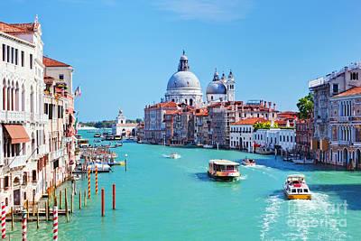 Photograph - Venice Italy Grand Canal And Basilica Santa Maria Della Salute by Michal Bednarek