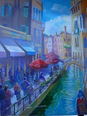 Painting - Venice  Italy by Paul Weerasekera