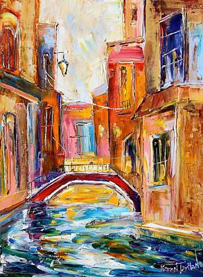 Lake Como Painting - Venice Magic by Karen Tarlton