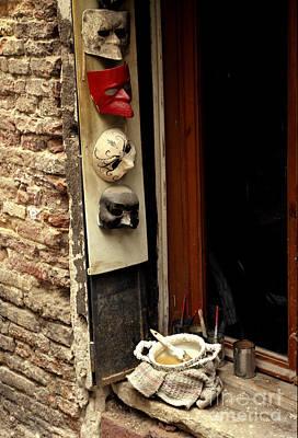 Venice Masks Original by Lawrence Costales