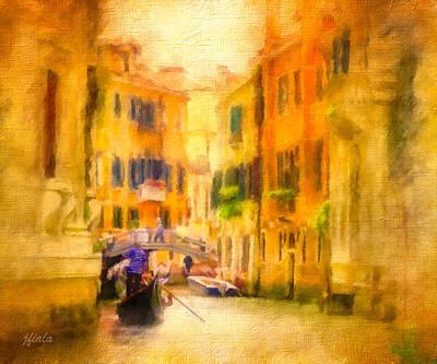 Venice Waterway No. 4 Art Print by Jane Fiala