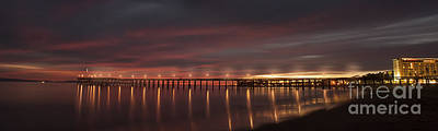 Photograph - Ventura Pier At Sunset With Lights by Dan Friend