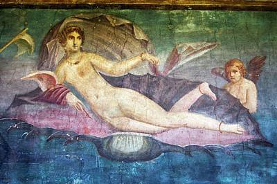 Mural Photograph - Venus Painting In Pompeii. by Mark Williamson/science Photo Library