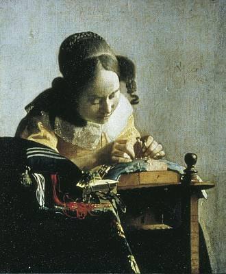 Vermeer, Johannes 1632-1675. The Art Print by Everett