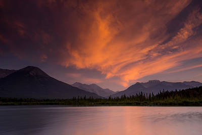 Nature Conservation Photograph - Vermillion Lakes Sunset by Cale Best