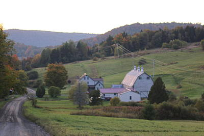 Fall Photograph - Vermont Farm by Barretreasures Photography