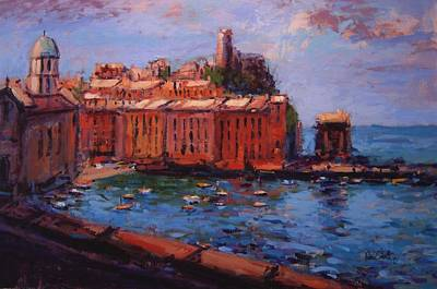 Vernazza From The Train Art Print by R W Goetting