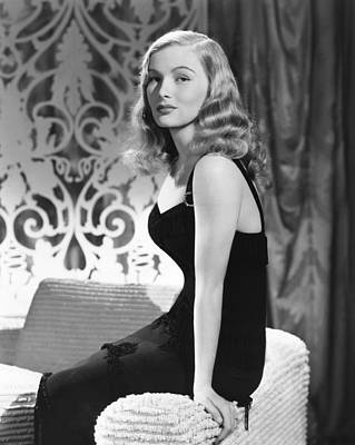 1940s Hairstyles Photograph - Veronica Lake, Ca. Early 1940s by Everett
