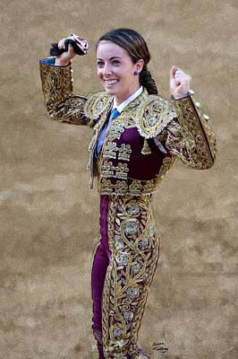 Bullfighter Painting - Veronica Rodriquez by Bruce Nutting