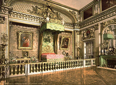 1900 Architecture Painting - Versailles Chamber by Granger