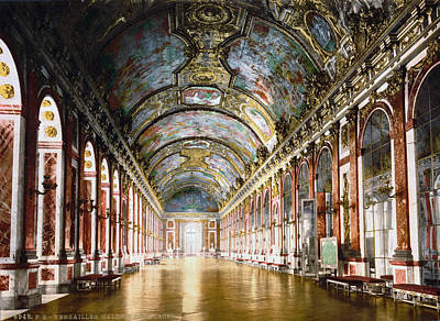1900 Architecture Painting - Versailles Hall Of Mirrors by Granger