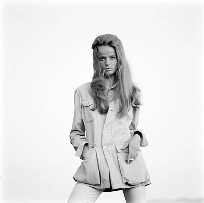 Photograph - Veruschka Wearing A Jacket by Franco Rubartelli