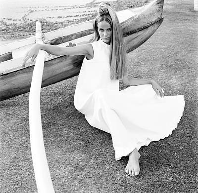 Photograph - Veruschka Wearing A Malia Hawaii Dress by Franco Rubartelli