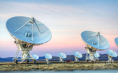 Very Large Array Of Radio Telescopes  Art Print by Bob Christopher