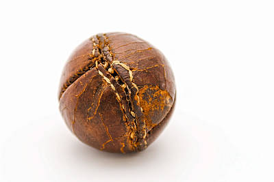 Photograph - Very Old Leather Baseball by Patricia Hofmeester