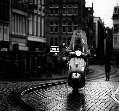 Bw Photograph - Vespa by Julien Oncete