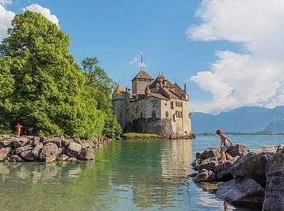 Chillon Photograph - Veytaux, Switzerland. Chateau De by Ken Welsh