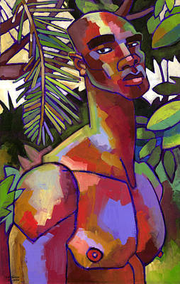 Figures Painting - African Forest by Douglas Simonson