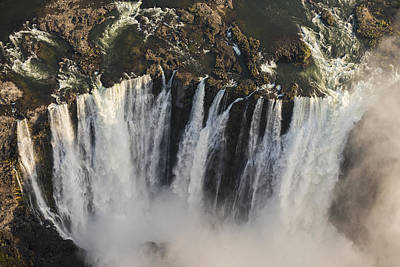 Victoria Falls And Rainbow Zimbabwe Art Print by Vincent Grafhorst