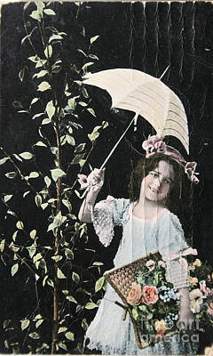 Photograph - Victorian Girl With Umbrella by Patricia Hofmeester