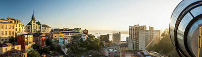 Valparaiso Photograph - View From Ascensor Reina Victoria by Panoramic Images