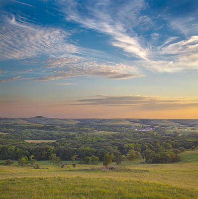 Konza Prairie Photograph - View From Butterfly Hill by David Roossien