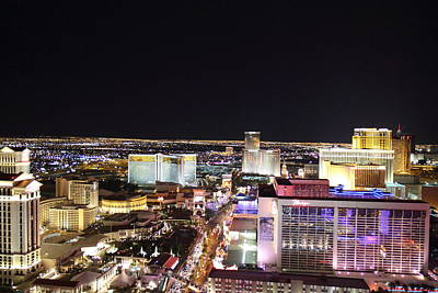 View From Eiffel Tower In Las Vegas - 01133 Print by DC Photographer