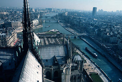 Paris Skyline Royalty-Free and Rights-Managed Images - View from Notre Dame by Carl Purcell