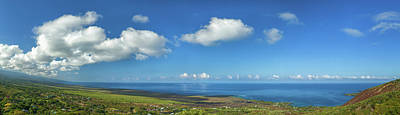 View From South Kona With Mauna Loa Art Print by Panoramic Images