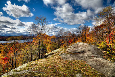 Fall Colors Photograph - View From The Eagle Bay Rocks by David Patterson