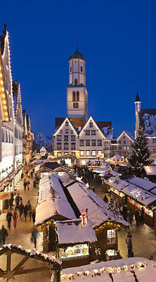 Christmas Market Photograph - View Of Christmas Fair At St. Martins by Panoramic Images