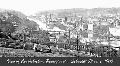 View Of Conshohocken Pennsylvania C 1900 Art Print