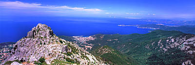 View Of Mount Capanne, Island Of Elba Art Print by Panoramic Images