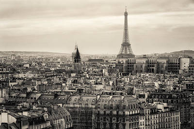 Photograph - View Of Paris And Of The Eiffel Tower From Above by Francesco Rizzato