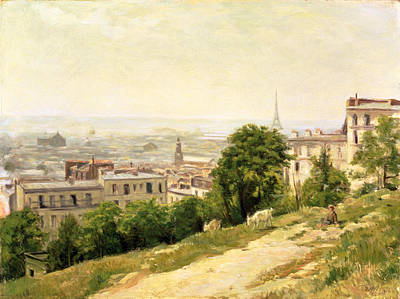 Rooftops Painting - View Of Paris by Stanislas Victor Edouard Lepine