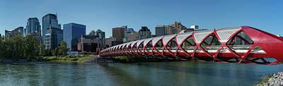 View Of Peace Bridge With Skylines Art Print