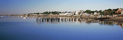 View Of Pier In Ocean, Provincetown Art Print by Panoramic Images