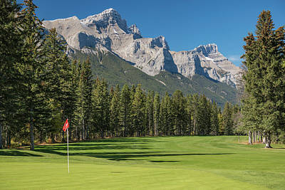 View Of The Canmore Golf Course, Mount Art Print