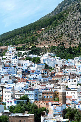 Northern Africa Photograph - View Of The City, Chefchaouen (chaouen by Nico Tondini