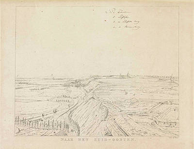 View Of The Countryside Southeast Of Nijmegen Art Print by Derk Anthony Van De Wart