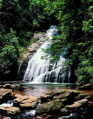 Oconee Photograph - View Of The Helton Creek Falls by Panoramic Images