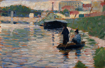 Georges Seurat Painting - View Of The Seine by Georges Seurat