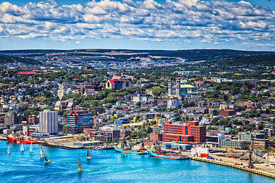 Photograph - View Of The St. John's Newfoundland From Signal Hill by Perla Copernik