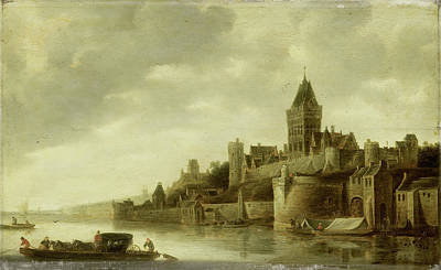 View Of The Valkhof At Nijmegen, The Netherlands Art Print