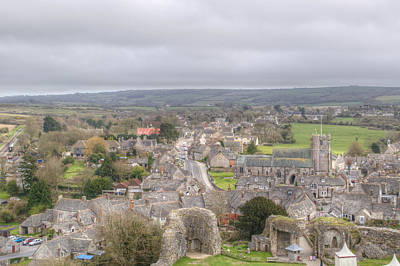 Photograph - View Of The Village From Corfe Castle by Chris Day